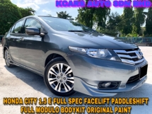 2013 HONDA CITY 1.5E FULL SPEC MODULO PADDLSHIFT