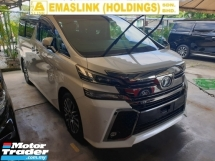 2017 TOYOTA VELLFIRE 2.5 ZG Edition Surround Camera Pre Crash Power Boot Power Door Memory Seat Local AP Unreg