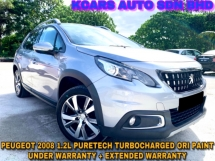 2018 PEUGEOT 2008 1.2 PURETECH EXTENDED WARRANTY by PEUGEOT