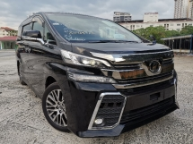 2016 TOYOTA VELLFIRE 2.5 ZG SUNROOF/FULL ALPINE/PRE CRASH UNREG