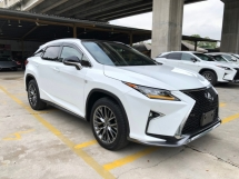 2017 LEXUS RX RX200t F Sport 2.0 Turbo Fully Loaded Panoramic Glass Roof Original 360 Camera Pre-Crash Head Up Display Running-Full-3LED Lane Departure Assist Blind Spot Multi Function Paddle Smart Entry Ventilation Air Con/Heater Seats Rear Power Seats Unreg