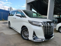 2018 TOYOTA ALPHARD 2018 Toyota Alphard 3.5 EL Executive Lounge Full Spec Sun Roof JBL Home Theatre 4 Cam 360 View Full Leather Modelista Bodykit Unregister for sale