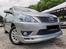 2013 TOYOTA INNOVA 2.0G (A) FULL SPEC FULON OTR 1 OWNER ONLY