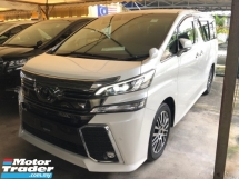 2017 TOYOTA VELLFIRE 2.5 ZG Edition Pre-Crash 360 Surround Camera Pilot Memory Seat Automatic Power Boot 2 Power Doors Intelligent Full-LED Lights Keyless-GO Smart Entry Roller Blind Hold Function Ambient Room Lights 9 Air Bags Unreg