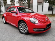 2013 VOLKSWAGEN BEETLE 1.2 TSI (A) FULL SERVICE RECORD BY VW