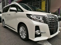 2016 TOYOTA ALPHARD 2.5 SA 2.5(A)PRE CRASH UNREG(ALPINE PLAYER)