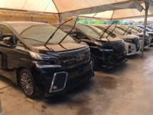 2017 TOYOTA ALPHARD Unreg Toyota Alphard SC 2.5 Pilot 7seats 360view PowerBoot SunRoof Push Start 7G