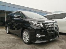 2016 TOYOTA ALPHARD 2.5 SA EDITION UNREGISTERED 5 YRS WARRANTY