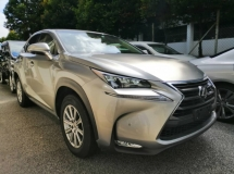 2016 LEXUS NX 200T I PACKAGE 2.0 UNREGISTERED