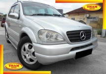 2001 MERCEDES-BENZ ML-CLASS ML320 3.2 V6 5 SPEED 4X4 SUNROOF CAMERA BEST CONDITION
