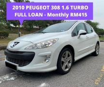 2010 PEUGEOT 308 1.6 TURBO THP PANAROMIC ROOF FULL LOAN