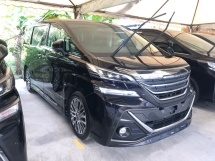 2016 TOYOTA VELLFIRE 2.5 ZG Modelista Edition Alpine Player Full Set 360 Surround Camera Pre-Crash Pilot Memory Seat Automatic Power Boot 2 Power Doors 3 Zone Climate Control Smart Entry Intelligent Full-LED Lights Ambient Room Light Roller Blind 9 Air Bags Unreg