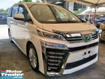 2018 TOYOTA VELLFIRE 2.5 Z NFL 2 LED HEADLAMPS 360 SURROUND CAM POWER BOOT 2 POWER DOOR AUTO CRUISE