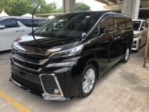 2015 TOYOTA VELLFIRE 2.5 Z Edition (Sport Package) 7 Seat 360 Surround Camera Automatic Power Boot 2 Power Doors Intelligent Full-LED Lights Smart Entry Push Start 3 Zone Climate Control Ambient Room Lights Auto Hold 9 Air Bags Unreg