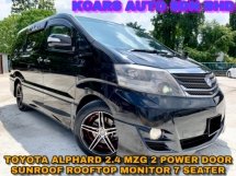 2006 TOYOTA ALPHARD 240G 2 POWER DOOR ROOF MONITOR SUNROOF