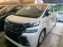 2016 TOYOTA VELLFIRE 2.5 ZG Fully Loaded Leather Seat JBL Sound System Home Theater Surround Camera PreCrashWarning Unregister SST Inclusive