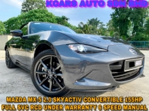 2016 MAZDA MX-5 MZR 2.0L FULL SVC RCD UNDER WARRANTY ORI PAINT