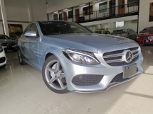 2014 MERCEDES-BENZ C-CLASS C200 AMG SILVER BLUE HUD POWERBOOT OFFER UNREG