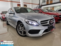 2015 MERCEDES-BENZ C-CLASS C200 AMG POWERBOOT HUD RED LEATHER 2 MEMORY SEAT OFFER UNREG