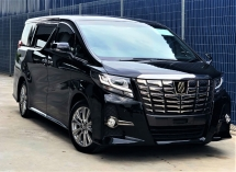 2017 TOYOTA ALPHARD 2.5 SA TYPE BLACK (A) + UNREGISTERED  PREMIUM PACKAGE  JAPAN SPECS (CBU)