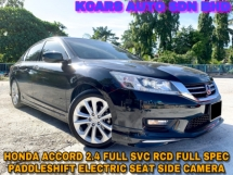 2016 HONDA ACCORD 2.4 VTI-L FULL SPEC SIDE CAMERA ORI PAINT UNDER WARRANTY