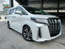 2019 TOYOTA ALPHARD 2019 Toyota Alphard 2.5 SC Full Spec 3 LED Sun Roof JBL Home Theatre 4 Camera Leather Seat Pre Crash LTA DIM Power Boot Unregister for sale