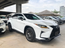 2016 LEXUS RX RX200t F Sport 2.0 Turbo 235hp 3-LED Lights Original 360 Surround Camera Head Up Display Pre-Crash Lane Departure Assist Blind Spot Sensor Multi Function Paddle Shift Smart Entry Ventilation Leather Seats Power Boot Unreg