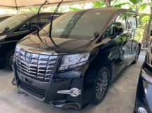 2017 TOYOTA ALPHARD 2.5 SC sunroof full leather 4 camera power boot precrash system keyless 2 power door unregistered