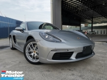2017 PORSCHE 718 2.0 CAYMAN KEYLESS START SILVER METALLIC OFFER UNREG
