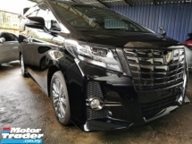 2016 TOYOTA ALPHARD 2.5 SA TYPE BLACK EDITION / SUNROOF / ALPHINE BIG TV / READY STOCK OFFER / 5 YEARS WARRANTY UNLIMITE