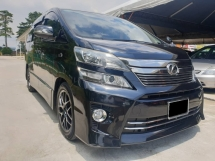2012 TOYOTA VELLFIRE 2.4Z G EDITION.ORIGINAL LEATHER SEAT,3 POWER DOOR,PILOT SEAT,4 POWER SEAT,1 CAREFUL OWNER,VIEW TO SATISFY,CHEAPEST IN TOWN