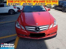 2011 MERCEDES-BENZ E-CLASS E250 CGI COUPE 1.8 (JAPAN SPEC) (FREE 2 YEARS WARRANTY)