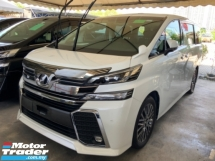 2017 TOYOTA VELLFIRE 2.5 sunroof power boot surround camera pilot leather seat keyless entry push start unregistered