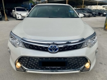 2016 TOYOTA CAMRY HYBRID 2.5 FULL SPEC - TOYOTA WARRANTY - FULL SERVICE RECORD - LIKE NEW CAR - NICE PLATE NUMBER - ALL ORIGINAL - MUST VIEW - PROMO RAYA 2020
