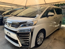 2018 TOYOTA VELLFIRE 2.5 Z New Facelift Unregister Android Player Roof Monitor Twin Sunroof Power Boot PCS LKA Price Negotiable