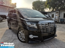 2016 TOYOTA ALPHARD 2.5 S SUNROOF/7 SEATS/ALPINE ROOF MONITOR UNREG