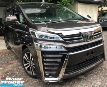 2018 TOYOTA VELLFIRE 2.5 ZG ZG Panoramic 3 LED