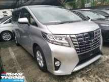 2015 TOYOTA ALPHARD 2.5 X 8 Seater 4Cam Power Boot 2 Year Warranty