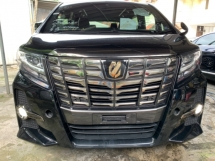 2017 TOYOTA ALPHARD 2.5 CVT S A PACKAGE TYPE BLACK