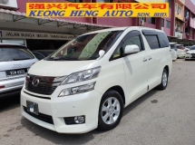 2013 TOYOTA VELLFIRE 2.4 X FACELIFT *2 years warranty* 8 seater