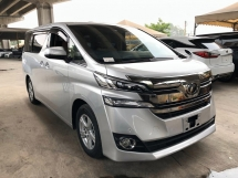 2016 TOYOTA VELLFIRE 2.4 X 8 SEATER PANROOF 50% SALES TAX DISCOUNT