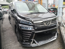 2018 TOYOTA VELLFIRE 2.5 ZG MODELISTA 2 YEARS WARRANTY Android Sunroof 360 Cam Pre Crash Lane Keeping Assist Unreg