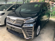 2018 TOYOTA VELLFIRE 2.5 Z sunroof precrash system surround camera power boot 2 power door 7 seaters push start Unreg