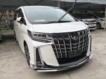2018 TOYOTA ALPHARD 2.5 SC MODELISTA JBL Theater 360 cam Sunroof Blind Spot Lane Keeping Pre Crash Unreg