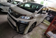 2018 TOYOTA VELLFIRE 2.5 ZG FACELIFT SUNROOF PRE CRASH LANE KEEP ASSIST ANDROID PLAYER SST 50 OFFER NAPPA LEATHER 18 UNRE