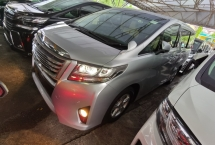 2016 TOYOTA ALPHARD TOYOTA ALPHARD 2.5 X 8 SEATERS 2 POWER DOORS POWER BOOTH 4 CAMERA FREE 2 YRS WARRANTY GENUINE 2016