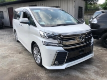 2015 TOYOTA VELLFIRE 2.5 Z 7S 2 POWER DOORS POWER BOOTH 4 CAMERA FRONT AND ROOF MONITOR 2015 JAPAN UNREG