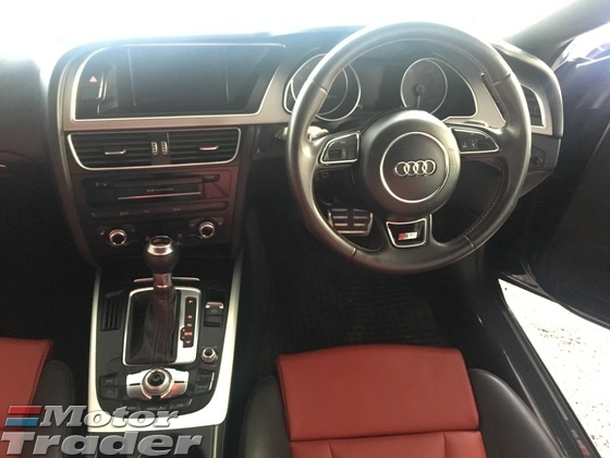 2013 AUDI S5 3.0 V6 Turbo 333Hp New Facelift Sport Back MMI 3 Daytime Neon Bi Xenon Light Power Bucket Seat Multi Function Paddle Shift Steering Dual Zone Climate Control Auto Cruise Control Bluetooth Connectivity 1 Year Warranty Unreg