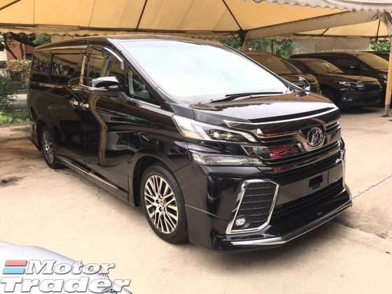 2016 TOYOTA VELLFIRE 2.5 ZG Modelista Edition 4 Surround Camera Pilot Seats Memory Seats Automatic Power Boot 2 Power Doors Keyless Entry Push Start Button Multi Function Steering Bluetooth Connectivity Hold Function Intelligent LED Light 9 Air Bags 1 Year Warranty Unreg