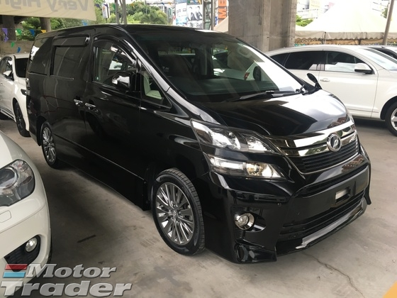 2013 TOYOTA VELLFIRE 2.4 Golden Eye Edition New Facelift Automatic Power Boot 2 Power Doors 7 Seat Alcantara Half Leather Xenon Light Keyless Smart Entry Push Start Button DVD Player Front and Reverse Camera Zone Climate Control Body Kits 1 Year Warranty Unreg